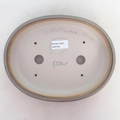 Bonsai miska 24 x 19 x 5,5 cm, barva šedá - 3