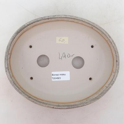 Bonsai miska 22 x 18 x 5,5 cm, barva šedobéžová - 3
