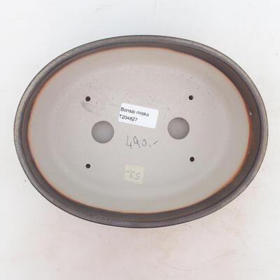 Bonsai miska 22 x 17 x 7 cm, barva hnědá - 3