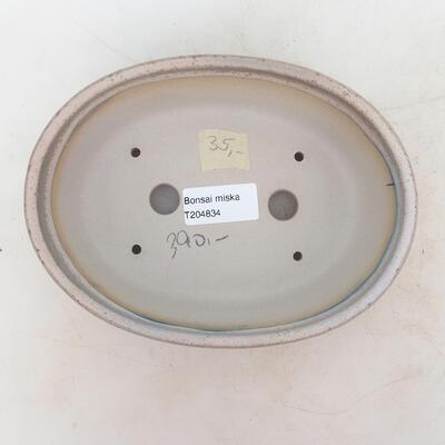 Bonsai miska 18 x 13 x 6 cm, barva šedobéžová - 3