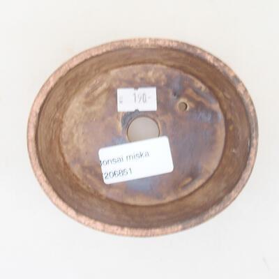 Keramická bonsai miska 10,5 x 9 x 4,5 cm, farba ružová - 3