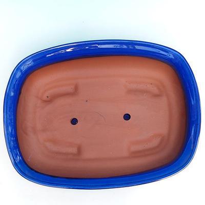 Bonsai miska + podmiska H10, modrá - 3
