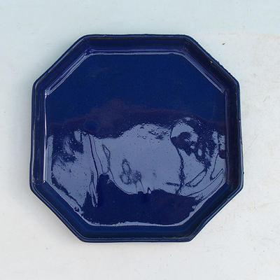 Bonsai miska + podmiska H14, modrá - 3