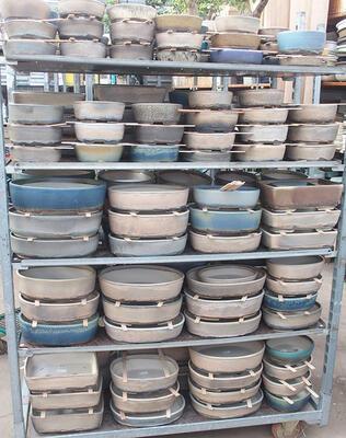 Bonsai miska 34,5 x 25,5 x 7 cm, farba hnedosivá - 5