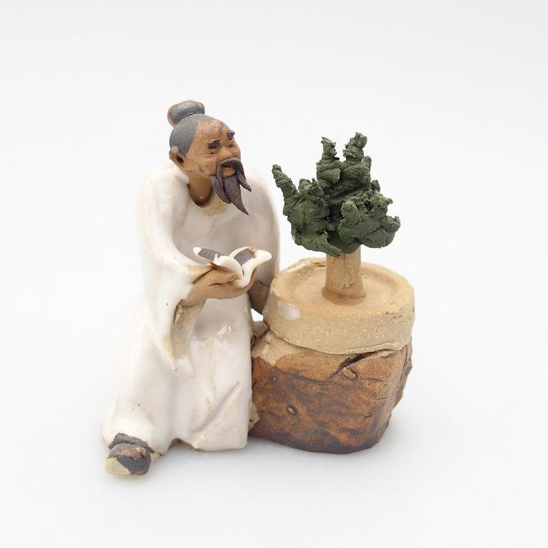 Keramická figurka - Bonsajista F